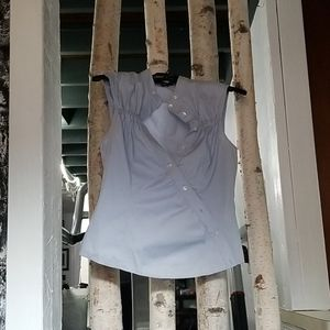 Laundry blue button down top